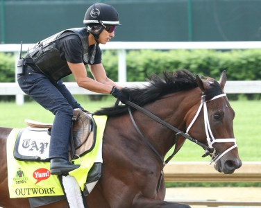 Outwork galloping at Churchill Downs - Coady Photography