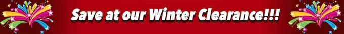 Our Huge Winter Clearance Banner