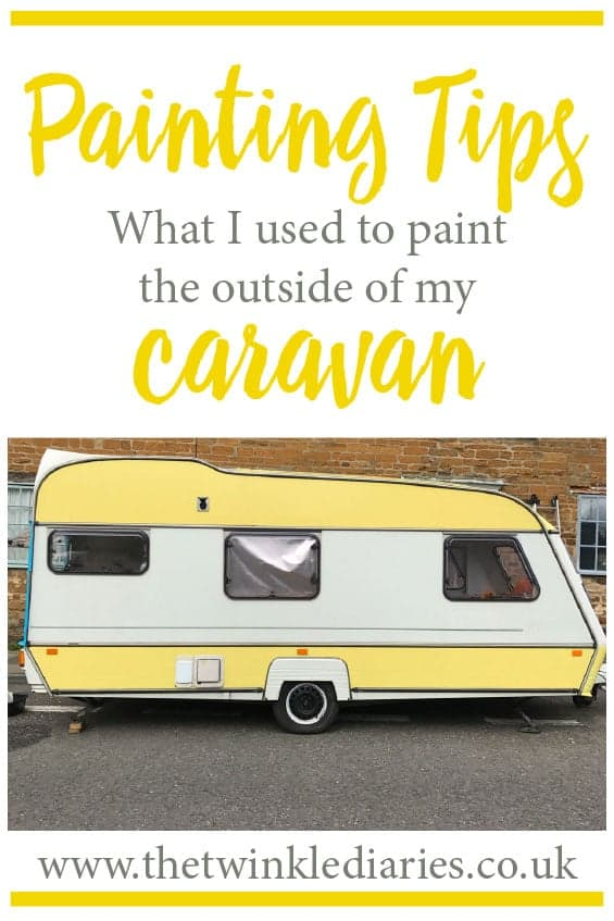 Painting tips: what I used to give my caravan a vintage caravan makeover, including paint to use on a caravan exterior