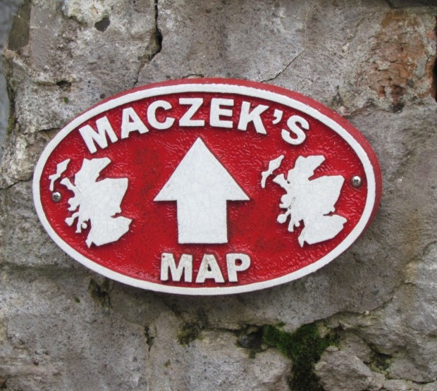 Waymarker for the Great Polish Map of Scotland