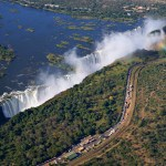 Flying Above Victoria Falls