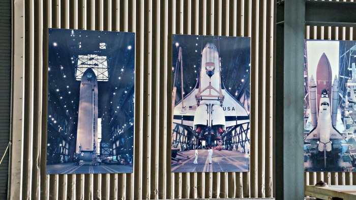Pictures of the Space Shuttle in the VAB