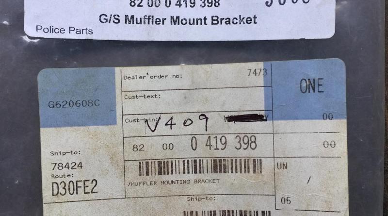 G/S Muffler Mount Bracket