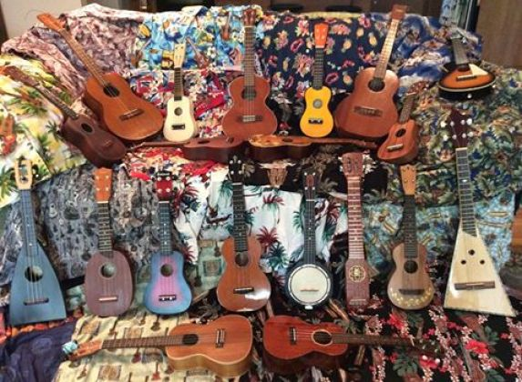 The Ukulele Dude's Collection of instruments