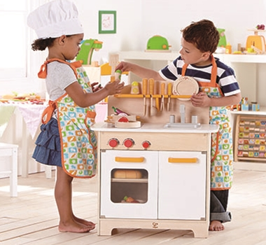 HaPe Toys Educo Eco-Friendly Gourmet Chef Kitchen in Green