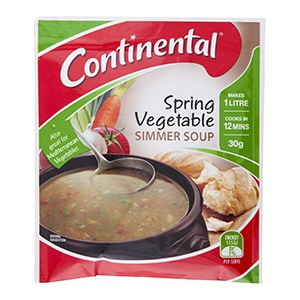 Hiking Food: Continental Spring Vegetable Simmer Soup