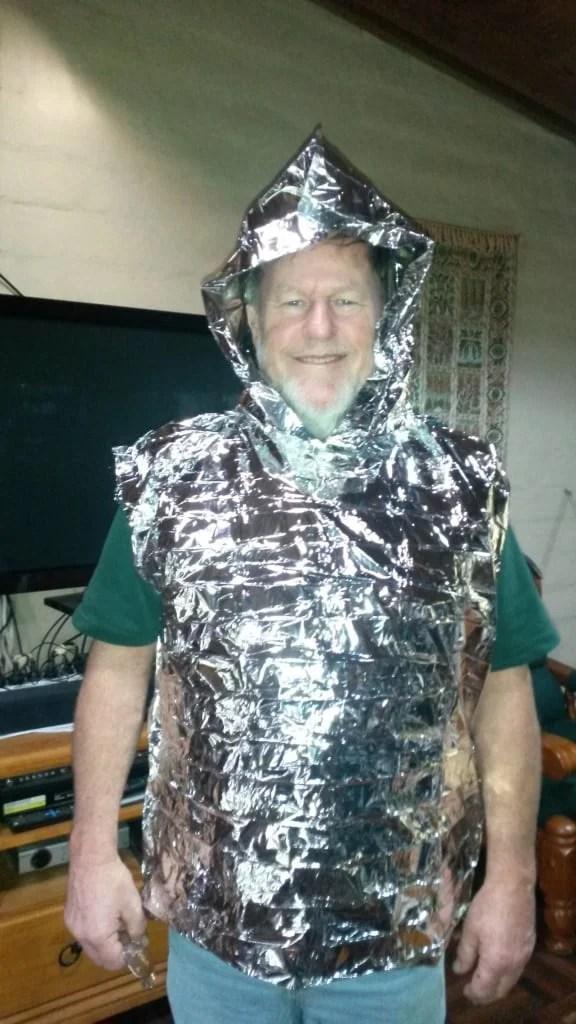 More Fun With Sticky Tape: Ultralight Mylar Vest: