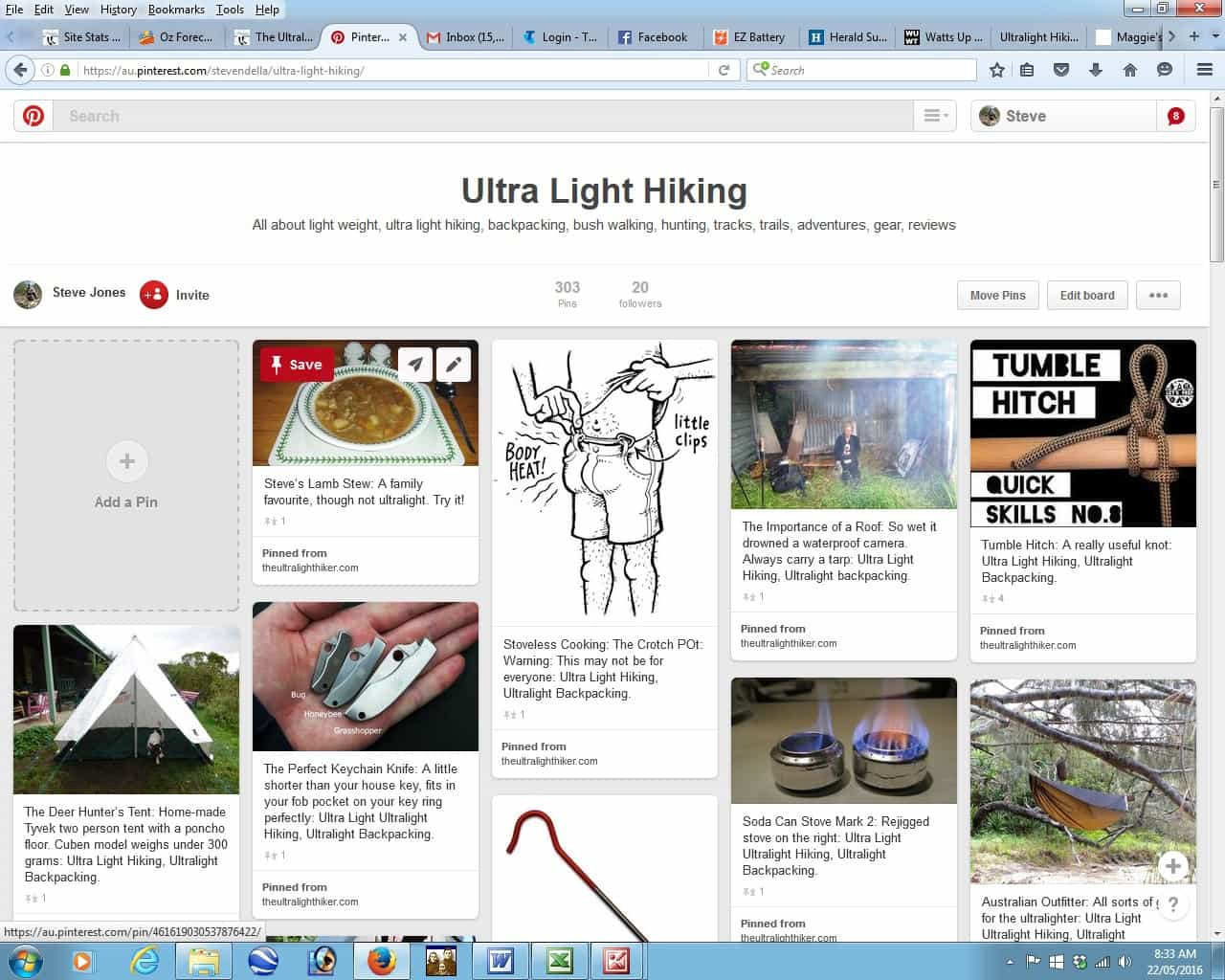 Ultralight Hiker on Pinterest: