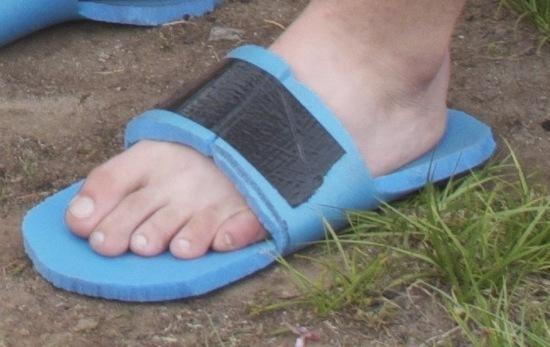 Fifteen Gram Blue Foam Flip-Flop Camp Shoe: