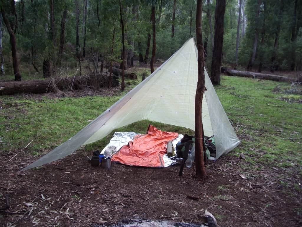 How to avoid being wet & cold while camping.