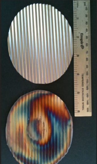 Corrugated Heat Diffuser, 3 grams.