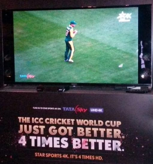 First ever Live 4k content on Tata Sky 4 STB