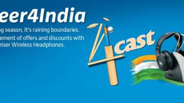 In the contest series, the company has been asking the community to #4cast (guess) the number of boundaries India will hit in the match next day and also share a situation where headphones helped save their match