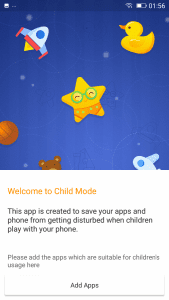 Gionee A1 Child Mode
