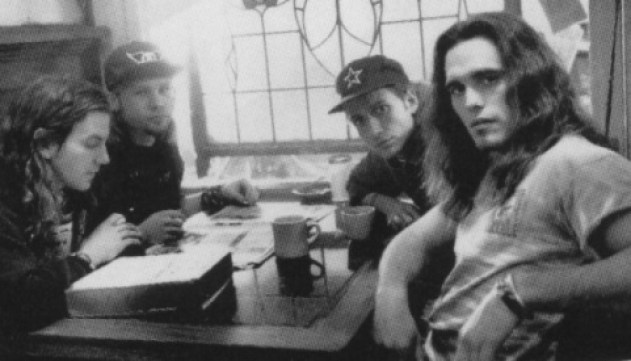 "Pearl Jam makes a cameo with Matt Dillon in the movie ""Singles"""