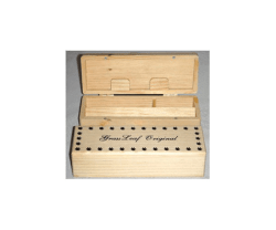 Wood Roll Box Small 14cm X 5cm