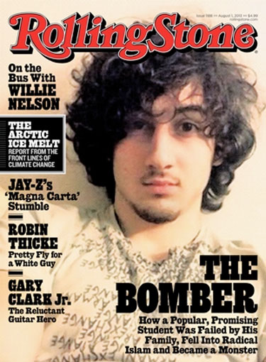 Jahar Tsarnaev looking like a goddamn Rock Star on the new Rolling Stone cover.