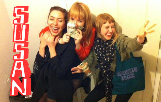 "LA power-pop trio Susan bring it on their debut 7"""