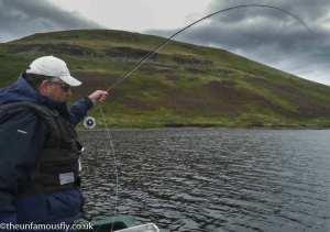 Murray Hunter plays a fish