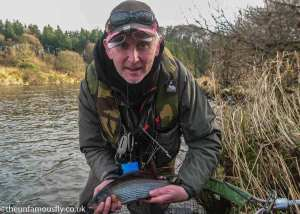 Kenny with a Nith Grayling