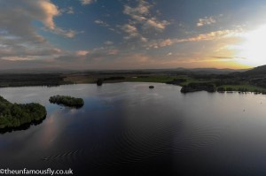 Around sunset on Lake of Menteith