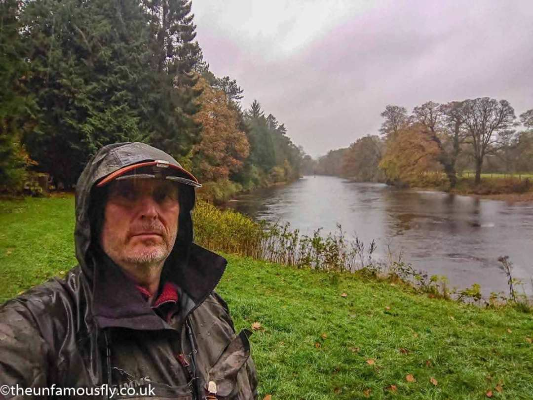 In the heavy rain on the Nith