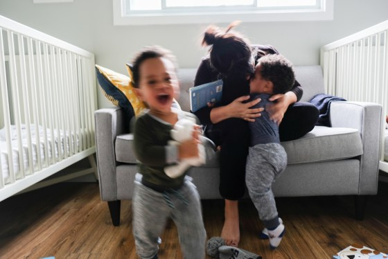 The Unfit parent- kids playing with mom