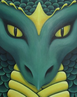 Kai Guardian Dragon Giclee Print of Painting