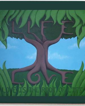 Coaster - Love Is The Root Of Life - Coasters Of Acrylic Paint Fine Art
