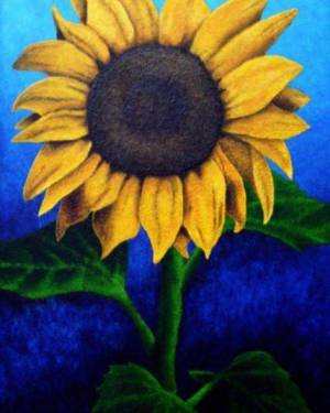 Poster - Face The Sun - Poster Of Sunflower Acrylic Painting Fine Art