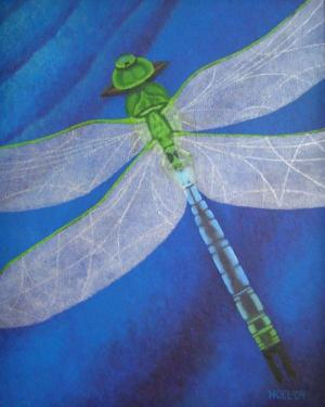 Poster - Resilience - Poster Of Dragonfly Acrylic Painting Fine Art