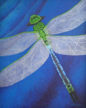 ProPrint - Resilience - Dragonfly Professional Prints Of Acrylic Painting Fine Art