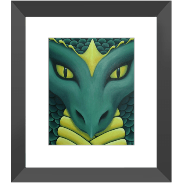 Kai Guardian Dragon Framed Prints of Painting