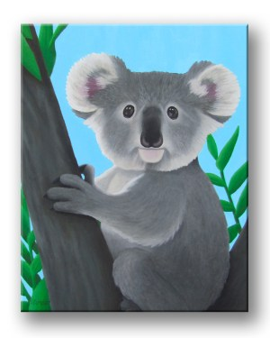 Koala Original Acrylic Paint Fine Art