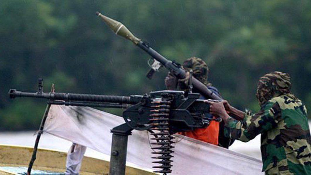 A Militant in the Niger Delta Creeks