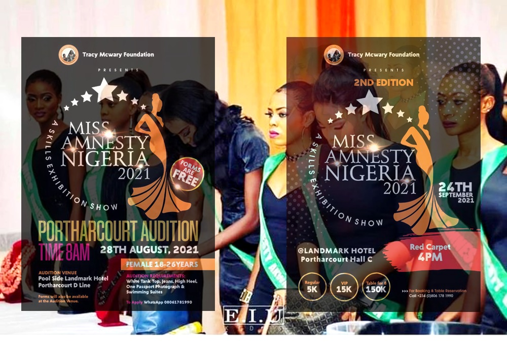 Auditions Begin For 2nd Edition of Miss Amnesty Nigeria In Port-Harcourt