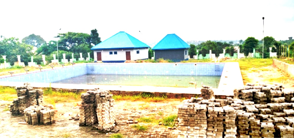 See Multimillion Naira 'Anambra Swimming Pool' Taken Over By Reptiles