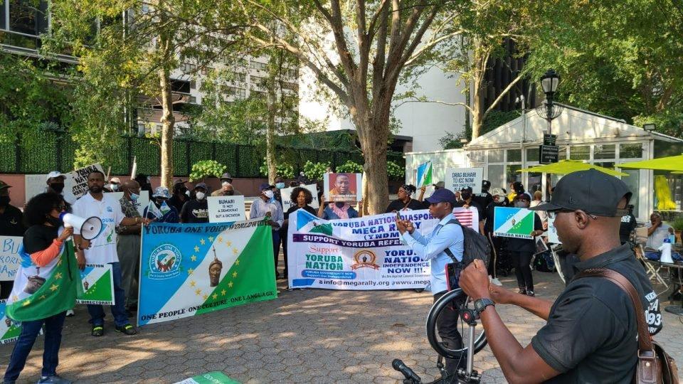 UN PROTEST: Yoruba's Partnership With IPOB Shocking — Presidency