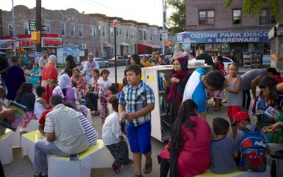 Uni returns to Ozone Park and creates evening reading room