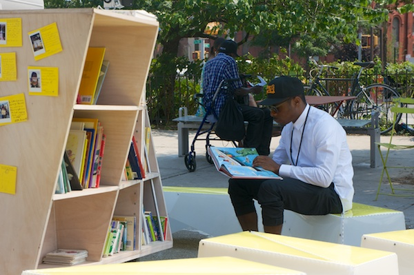 Uni reading room, Putnam Triangle Plaza, Brooklyn