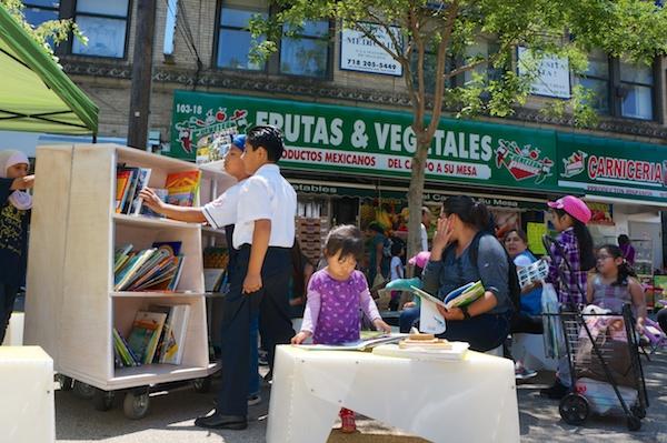 Uni reading room, Corona, Queens, June 7, 2014.