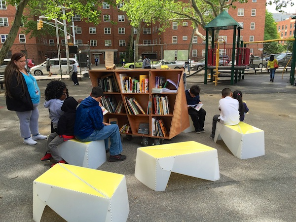 Uni at James Weldon Johnson Playground, East Harlem
