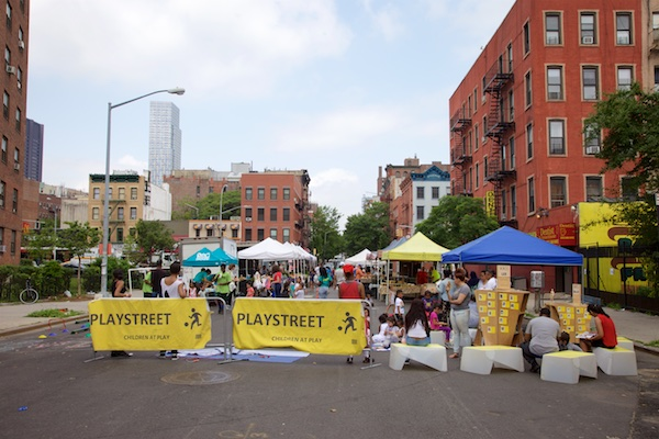 Uni at East Harlem farmers market play street