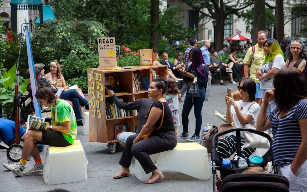 A special pop-up reading room for Madison Square Park