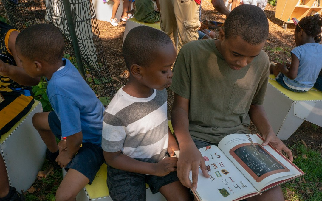 Uni Project wraps up pop-up reading room residency at Marcus Garvey Park in Harlem