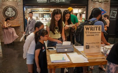 Creating a place for writing—our residency at Chelsea Market continues