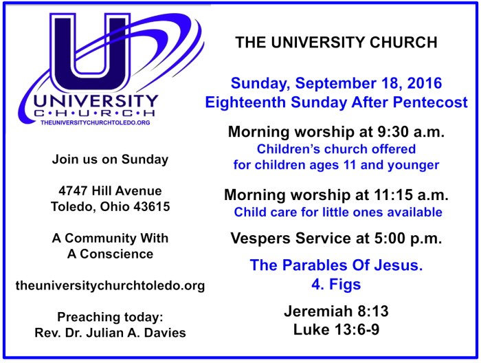 September 18 2016 worship