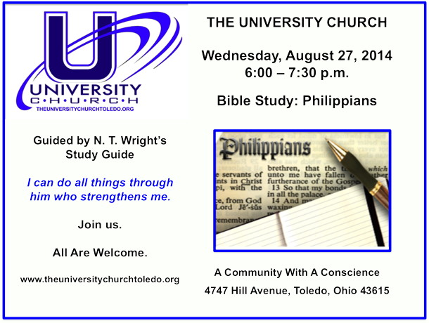 August 27 2014 Bible Study