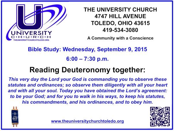 September 9 2015 Bible Study
