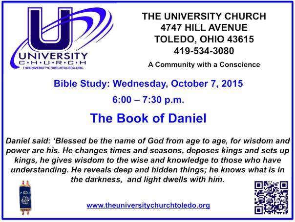 October 7 2015 Bible Study